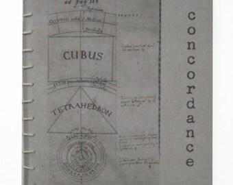 Artist's book, Book Art, handmade book, coptic stitch, Science geek, Quotation book,  illustration, handbound, stocking stuffer