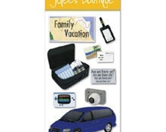 New - Jolees Boutique Dimensional Scrapbooking Stickers Family Vacation