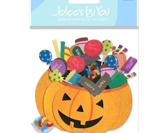 New - Scrapbooking Dimensional Stickers by  Jolees Boutique Pumpkin Basket
