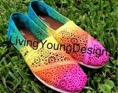 Tie Dye TOMS Crochet Rainbow Ombre Toms