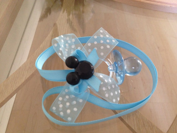 mickey baby shower pacifier necklace pack by marcenaripartydecor