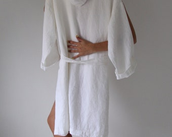 LINEN ROBE. Pure linen morning dress for women. Made by MOOshop.*29