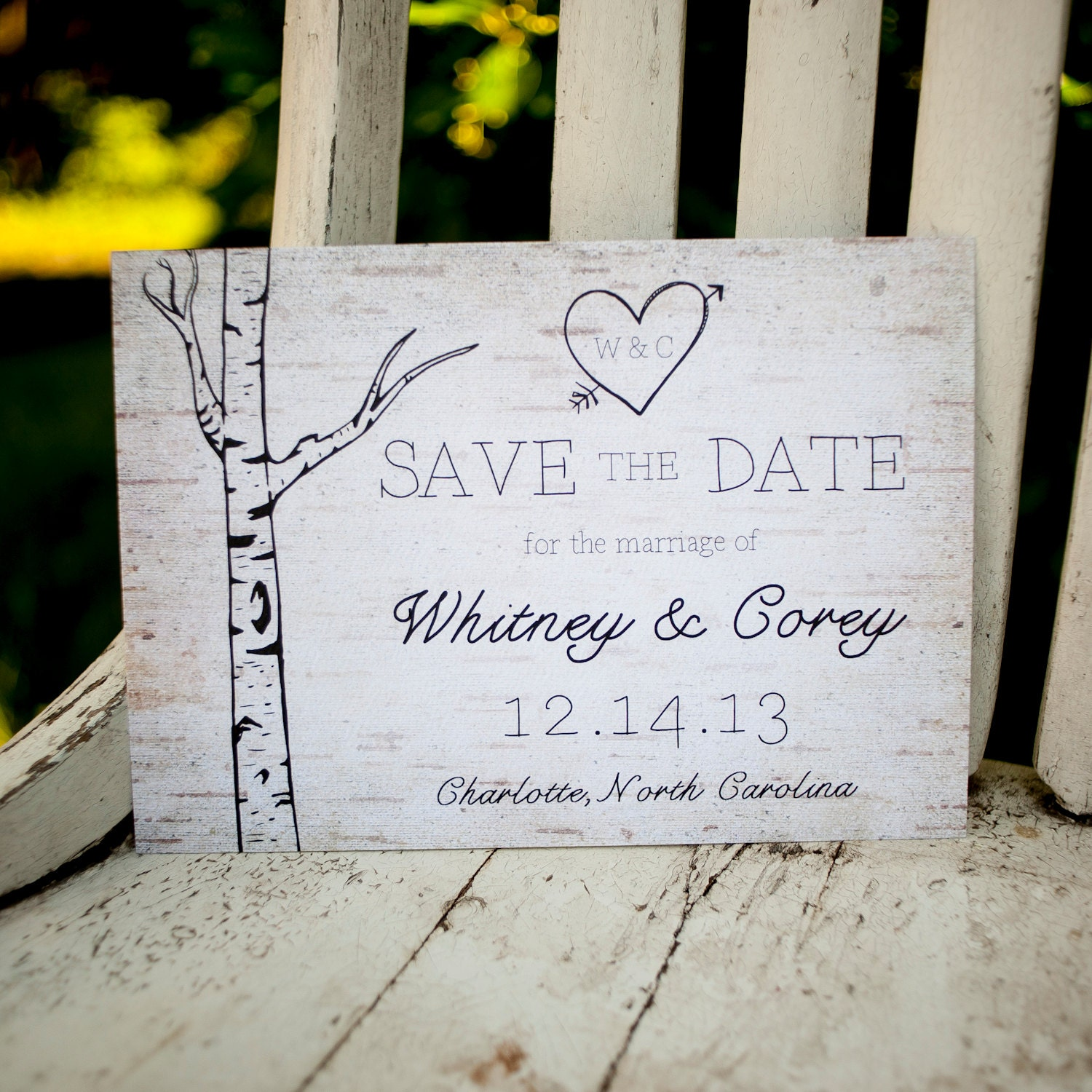 Rustic Save The Date Save The Date Card The Woodland