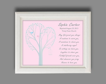 Baptism Gift - Christening Gift - Personalized Baptism Gift - Nursery Art -  Print