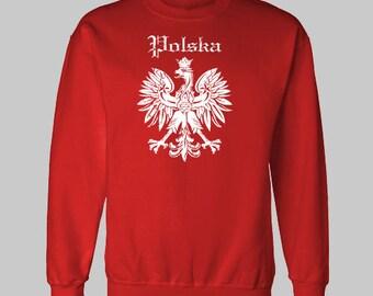 POLSKA POLISH FLAG sweatshirt eagle
