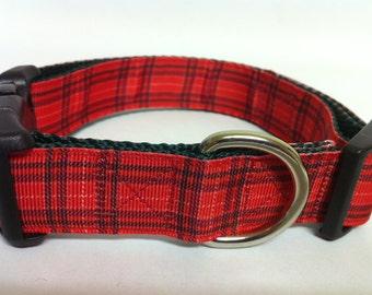 Christmas Plaid Dog Collar