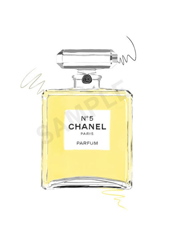 items similar to yellow chanel no 5 paris parfum perfume. Black Bedroom Furniture Sets. Home Design Ideas