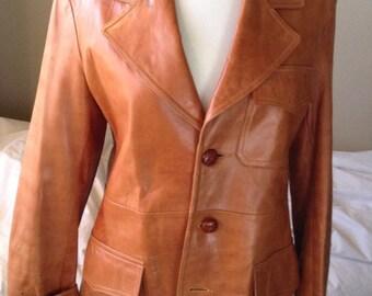 Vintage leather coat.