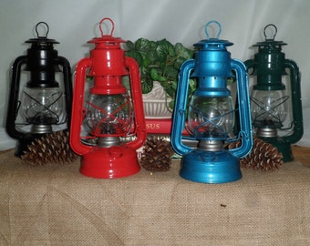 Rustic Electric Lantern Table Lamp/ Home Decor