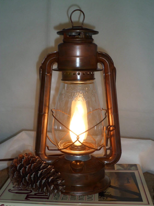 Rustic Electric Lantern Lamp