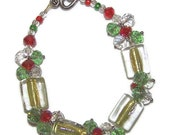Christmas Bracelet - FiberandBeadBoutique