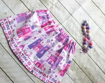 Princess skirt for toddler girls princess outfit  birthday purple pink tiara skirt 2t princess 3t princess skirt 4t princess 5t princess