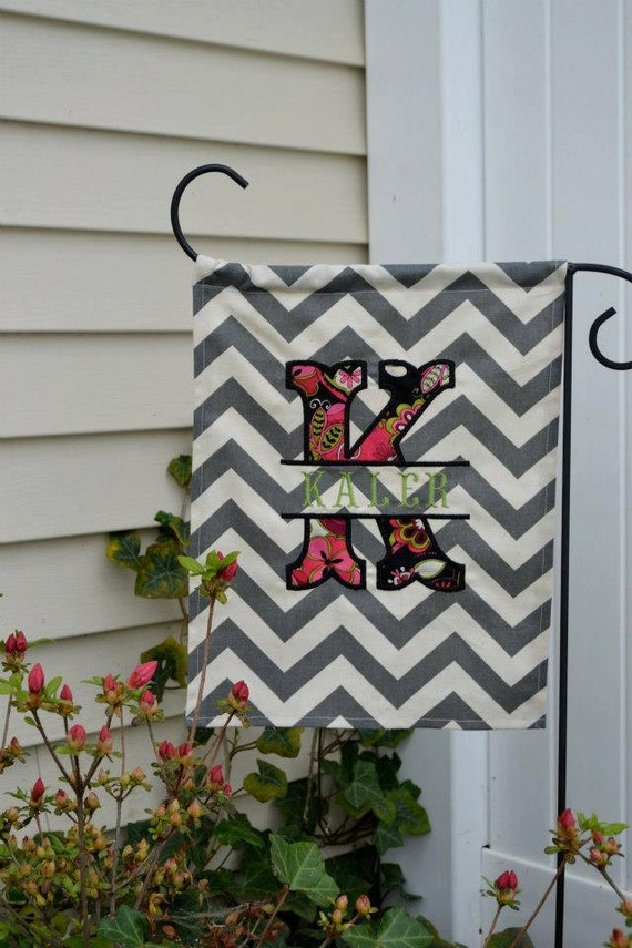Personalized Garden Flag by DyingToBeDomestic on Etsy