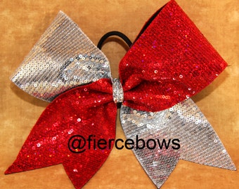 Sequin Tick Tock Cheer Bow