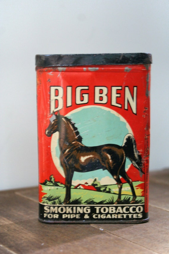 Big Ben Antique Tobacco Tin Vintage Cigarette By