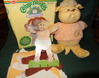 """Cabbagae Patch Kids """"Koosas"""" and Cabbage Patch Kids Paper Doll"""