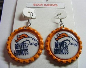 Denver Broncos Bottlecap Earrings