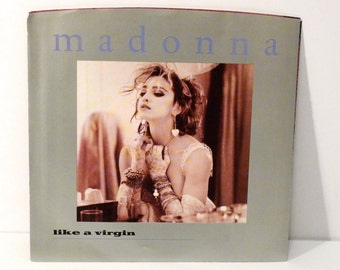 Madonna Vintage Vinyl Record Like A Virgin Picture Sleeve Single b-side Stay 1980s 45 rpm 7 inch Sire Records 1984 from LP Like A Virgin