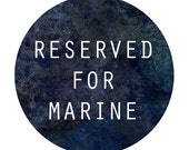 RESERVED FOR MARINE