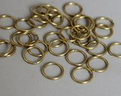 200pcs Raw Brass Round Jump Ring , Findings 8mm x 0.8mm - F105