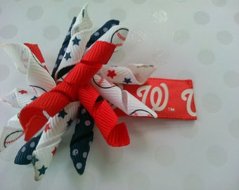 Washington Nationals Korker Hairbow