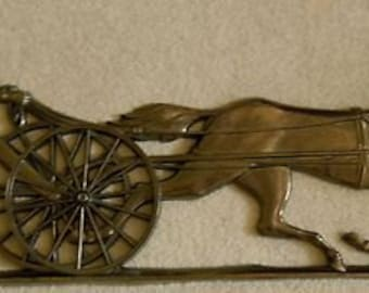 Syroco Inc Horse And Buggy Wall Hanging.  Model 7207