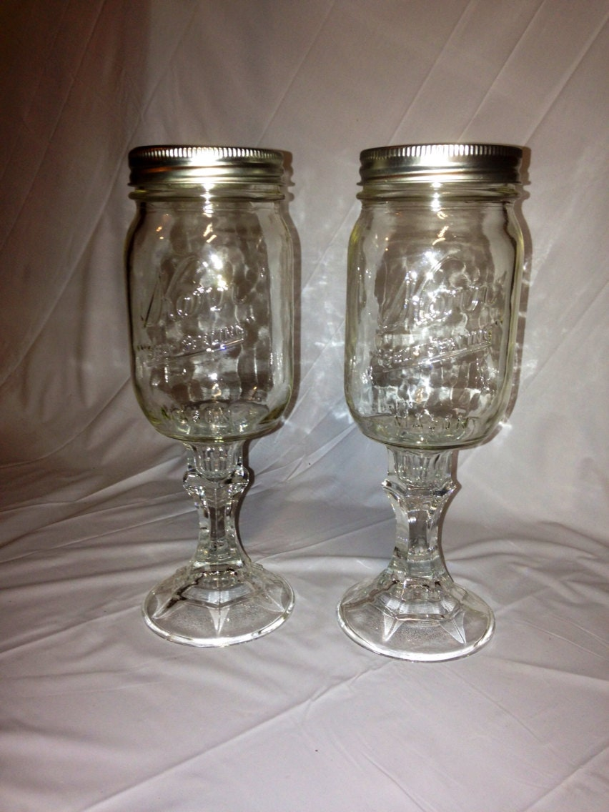 mason jar wine glasses redneck wine by randomcraftsbysundee