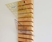 Wood Wall Mounted Quilters Ruler Holder or Rack