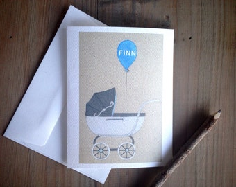 Personalized Stroller Cards: Blank Stationery