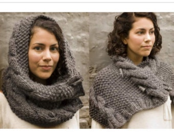 Knitted Neck Warmer, Cowl, PATTERN digital