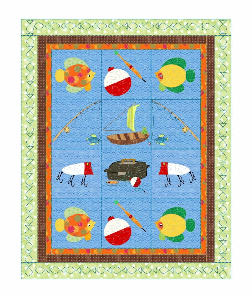 Baby Boys Quilt Pattern Little Boys Fishing Quot Go Fish