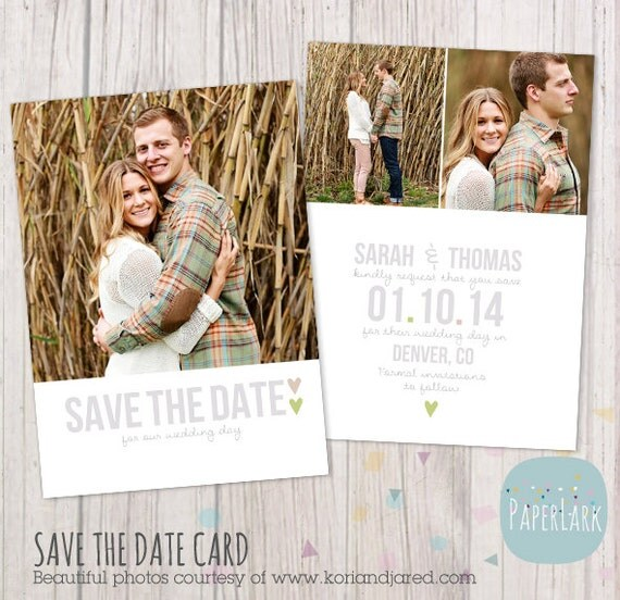downloadable save the date templates free - save the date card template aw007 instant download