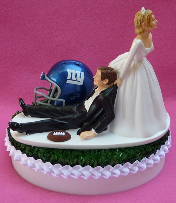 wedding cake toppers in new york wedding cake topper new york giants ny football themed sports 26513