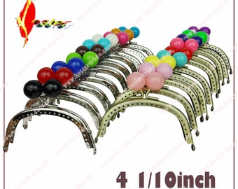 10pcs  4 1/16inch  10 color 10.5cm resin kiss lock  coin purse frame clasp KS-41