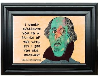 William Shakespeare--Quotation Art Print