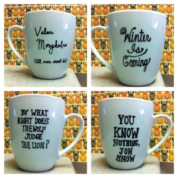 items similar to game of thrones got single coffee mugs