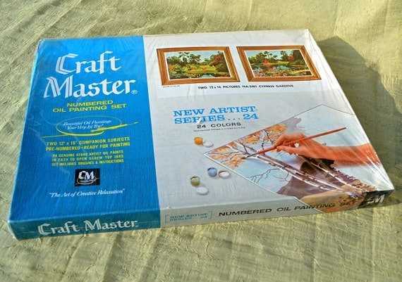 craft master paint by number kit sealed 1960s