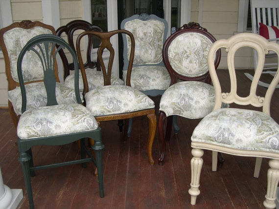 eclectic dining chairs by chairwhimsy on etsy