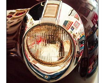 Classic Car Fine Art photography Vintage 1940 Ford Classic Car Headlight For Men