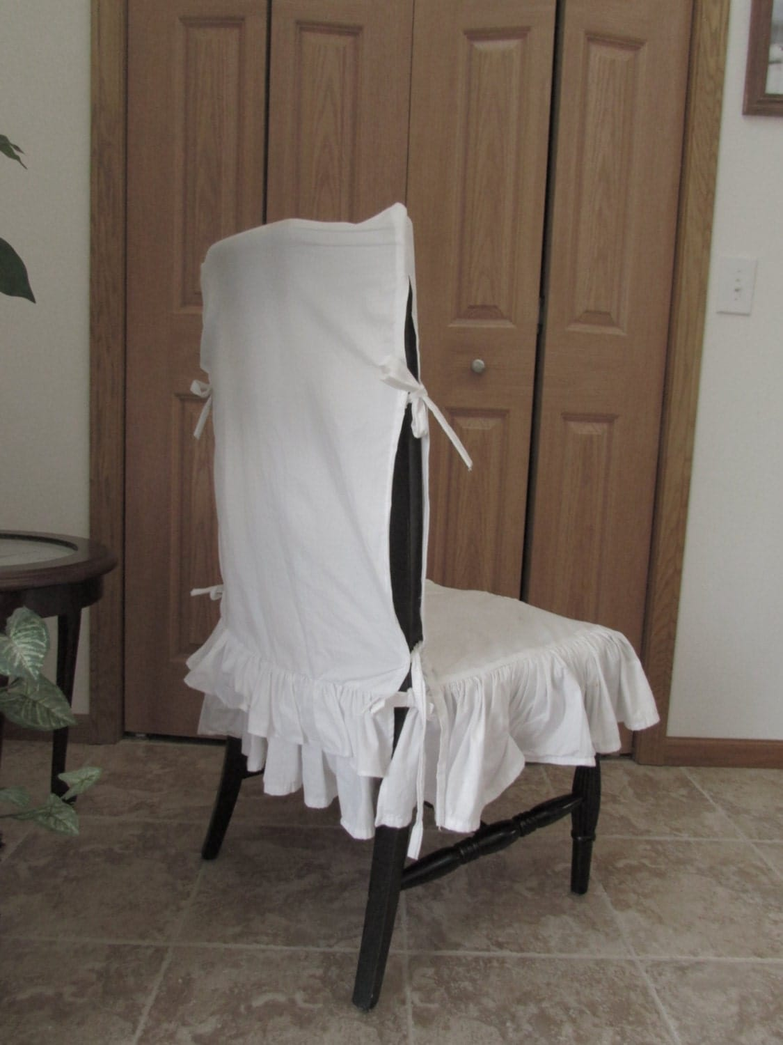 Sale White Ruffle Chair Cover Seat Cover Ruffle By