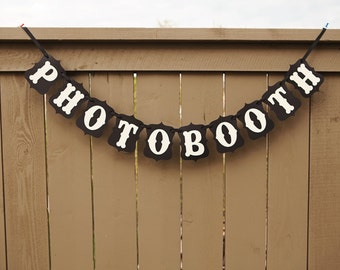 PHOTOBOOTH banner for Weddings, Photo Booth Banner, Photobooth Sign, Parties | Black & Cream