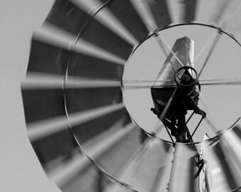 windmill aeromotor sky western country farm rusty home decor fine art photography