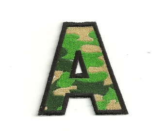 """Camouflage Letter Patch, 2"""" Custom Made! LET3"""