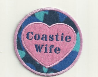 Coast Guard Wife Patch, Any Branch of Service! Custom Made!