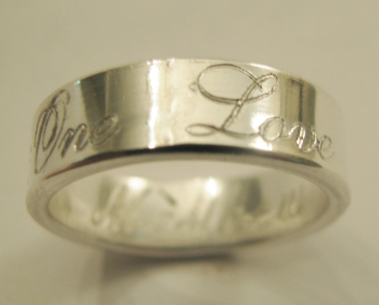 one promise ring engraved 6mm wide 14k by engraveddesigns