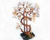Tree  Dolla rbeads tree   Bonsai tree Money Tree  Dollar  brown  gift  fantastic wood  interior decoration  sculpture  wood bead
