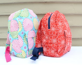 Toddler / Child's Backpack - Adjustable straps, fully-lined, multiple color choices