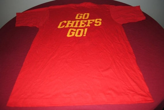 1992 Kansas City Chiefs Raider Hater Go Chiefs Go T-Shirt L