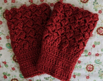 Vintage Style Red Boot Toppers Cuffs