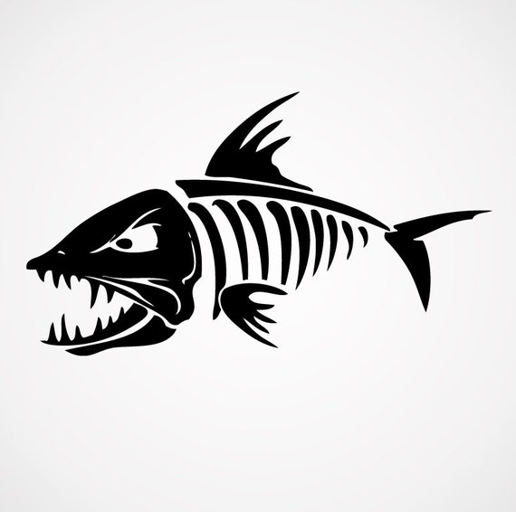 Image gallery bonefish decals for Fish skeleton decal